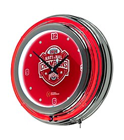 Ohio State University Trademark Home® Red Neon Clock