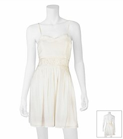 A. Byer Gauze Fit And Flare Dress
