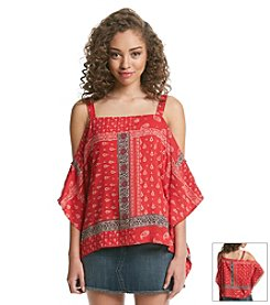 Hippie Laundry Bandana Cold Shoulder Top