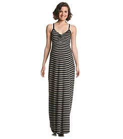 Three Seasons Maternity™ Stripe Slip Strap Maxi Dress