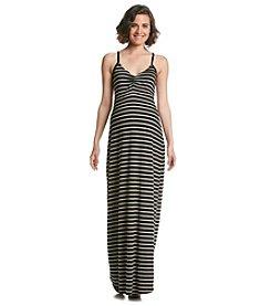 Three Seasons Maternity™ Stripe Slip Strap Maxi Dress