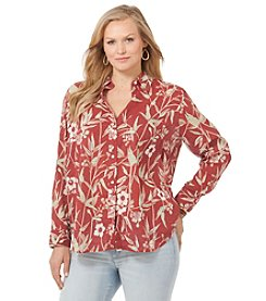 Chaps® Plus Size Floral Cotton Shirt