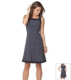 Chaps® Polka Dot Tank Dress