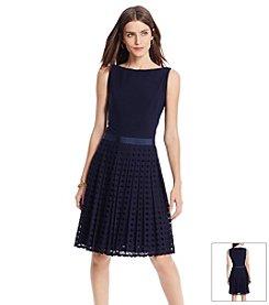 Lauren Ralph Lauren® Pleated Eyelet Dress