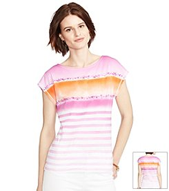 Lauren Jeans Co.® Striped Cotton T-Shirt