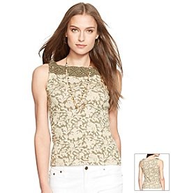 Lauren Jeans Co.® Sleeveless Macrame Top