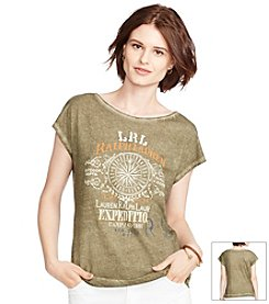 Lauren Jeans Co.® Tropical-Print Cotton T-Shirt
