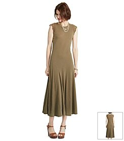 Lauren Ralph Lauren® Crocheted-Sleeve Maxi Dress