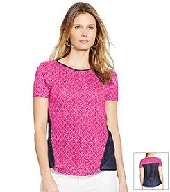Lauren Ralph Lauren Linen Combo Shirt