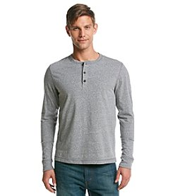Ruff Hewn Men's Long Sleeve Solid Snow Heather Henley