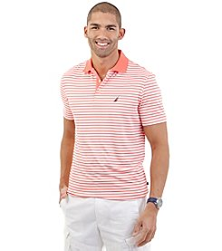 Nautica® Men's Short Sleeve Stripe Tech Polo