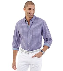 Nautica® Men's Long Sleeve Oxford Tattersall Button Down