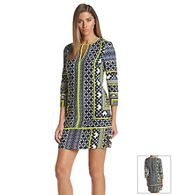 Vince Camuto® Geo Print Shirt Dress
