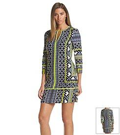 Vince Camuto® Geo Print Shirt Dress