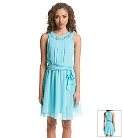 Jessica Simpson Chiffon Fit And Flare Dress