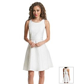 Jessica Simpson Bow Fit And Flare Dress