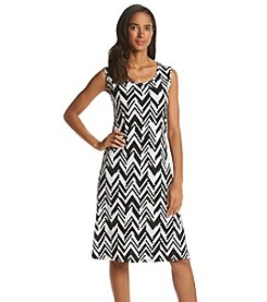 Notations® Chevron Stripe Dress