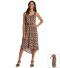 Notations® Biadere Printed High Low Dress
