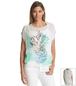 Vince Camuto® Pineapple Print Top