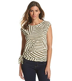DKNY JEANS® Mixed Stripe Top