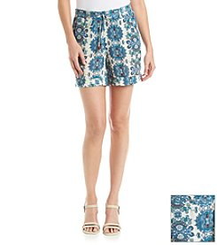 Vintage America Blues™ Hydrangea Printed Shorts
