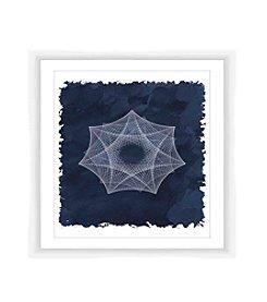 Cyanotype Geometric III Framed Art