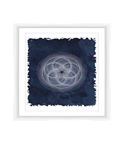 Cyanotype Geometric IV Framed Art