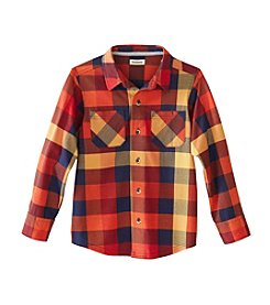Ruff Hewn Mix & Match Boys' 2T-7 Long Sleeve Knit Plaid Shirt