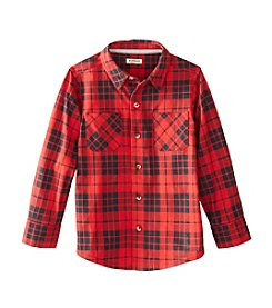 Ruff Hewn Boys' 2T-7 Long Sleeve Knit Plaid Shirt