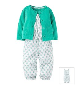 Carter's® Baby Girls' Printed Romper With Cardigan