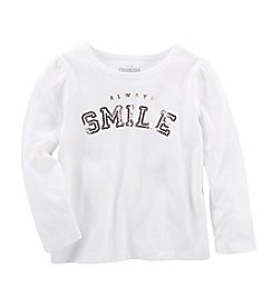 OshKosh B'Gosh® Girls' 2T-6X Always Smile Long Sleeve Tee