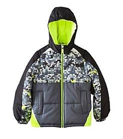 London Fog® Boys' Digital Print Puffer Jacket
