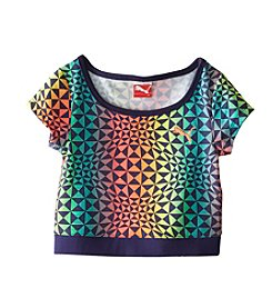 PUMA® Girls' 7-16 Geo Active Crop Tee