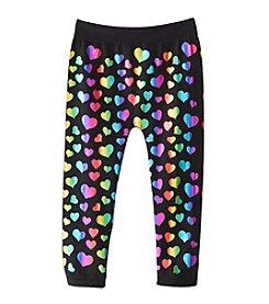 Squeeze® Girls' 2T-6X Foil Heart Print Leggings