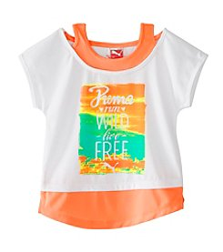 PUMA® Girls' 7-16 Run Wild Live Free Layered Top