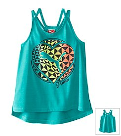 PUMA® Girls' 4-16 Strappy Logo Heart Tank