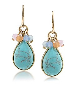 Carolee® Goldtone Caspian Sea Drop Pierced Earrings
