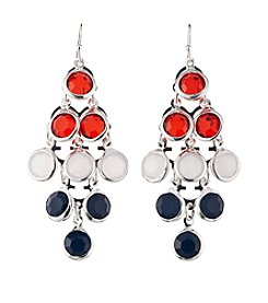 Studio Works® Multi And Silvertone Chandelier Drop Earrings