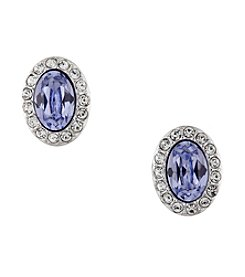 Swarovski® Silvertone Christie Pierced Earrings