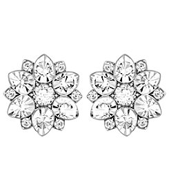 Swarovski® Silvertone Celestial Pierced Earrings