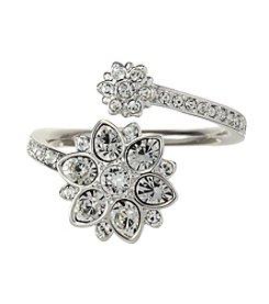 Swarovski® Silvertone Celestial Ring