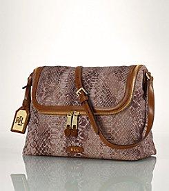 Lauren Ralph Lauren® Cavalry Python Messenger Bag