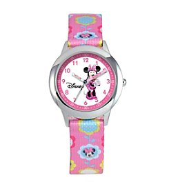 Disney® Minnie Mouse Girls' Stainless Steel Time Teacher Watch
