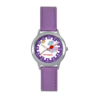 Red Balloon Girls Stainless Steel Purple Time Teacher Watch