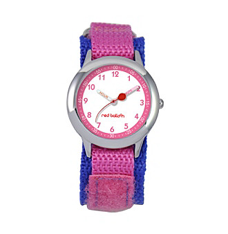 Red Balloon Girls' Stainless Steel Pink Time Teacher Watch