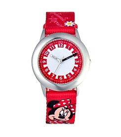 Disney® Minnie Mouse Girls' Stainless Steel Red Watch