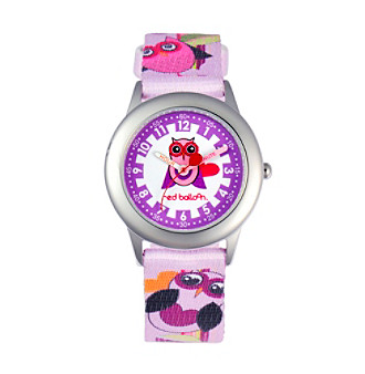 Red Balloon Girls' Love Owl Stainless Steel Colorful Time Teacher Watch
