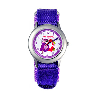 Red Balloon Girls' Love Owl Stainless Steel Purple Time Teacher Watch