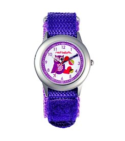 Red Balloon Love Owl Girls' Stainless Steel Purple Time Teacher Watch