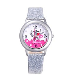 Red Balloon Girls' Stainless Steel Tween Glitz Silver Watch